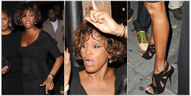 Foto de whitney houston nas drogas