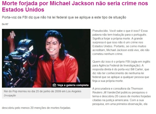 michael jackson morte fake
