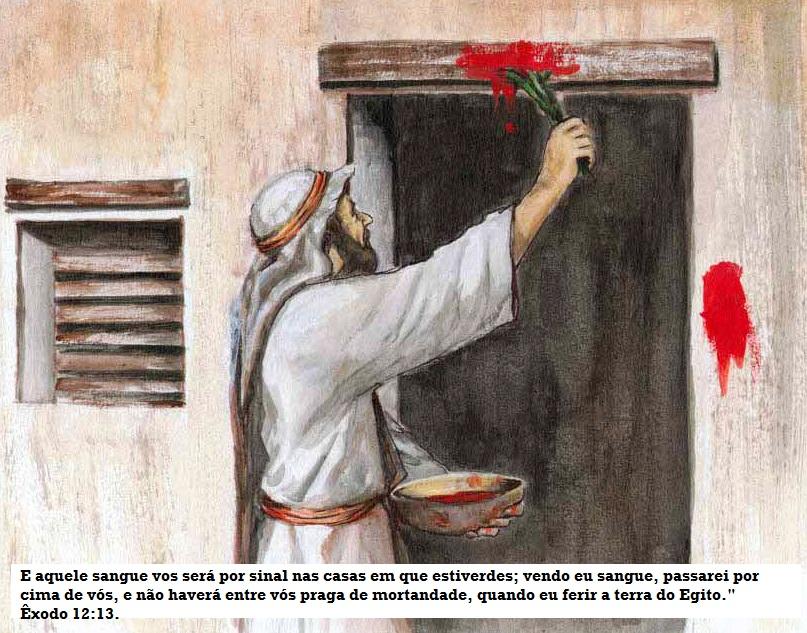 sangue na porta