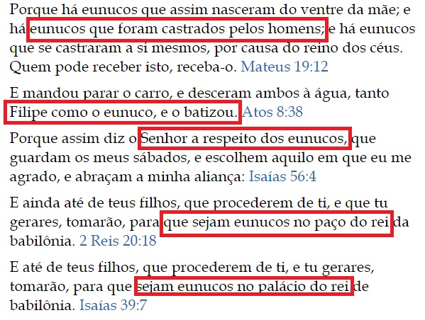 eunucos na biblia